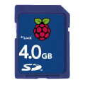 4 GB SD memory card - Pre-installed for Raspberry Pi touchscreen