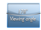 178 degree viewing angle